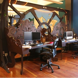 Because We Can has created an office based on 20,000 Leagues Under the Sea- detailed and fun design!