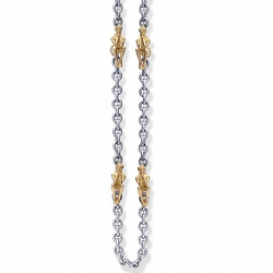 Theo Fennell makes unbelieveable jewelry. This is his 18k white gold chain with 18k yellow gold devils. Cool, huh?