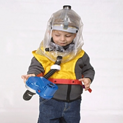 Childs Gas Hood. This hood is designed for children of 3 to 8 years old.  The kit includes a blower airflow unit, which creates positive pressure thus preventing contaminated air from entering the hood.
