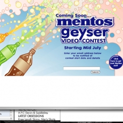 MENTOS GEYSERS - video competition.
