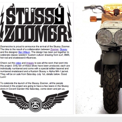Only  thing cooler than this Stussy Zoomer (such incredibly woody goodness, MUST SEE) - is the logo.