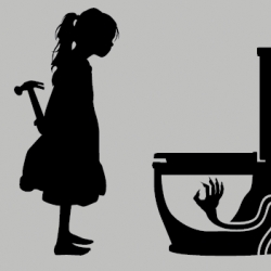 I like the graphic of the girl .... why does the hand make me think of harry potter. [from new threadless tee]