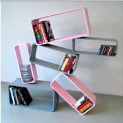 GLOM. it takes modular shelving to a new level with the use of industrial grade VELCRO. Now imagine if you had velcro walls too.