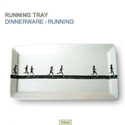 running people plate