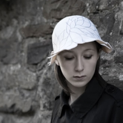 """Love this doodle hat, such a gorgeously retro shape, yet made of felt and playfully """"doodley"""""""