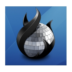 "The new cd burning app for OS X called ""Disco""  has a really pretty icon.  The app itself looks pretty sweet too."