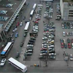 Parking lot at Edward and Bay. Pclix was used with a Canon 350D set to Av mode at f6.3 taking a photo every 10 seconds. - sweet video