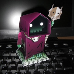FREE! Desktop Necromancer! Also from No Gun Army, and another 'print and tape' toy - too cute not to post.