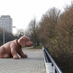 Marjolijn Mandersloot's giant bobblehead dog sculptures are just some of her amazing public art works.