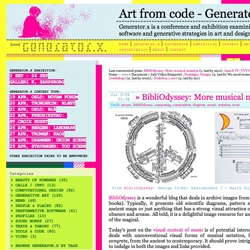 Generator.x is a conference and exhibition examining the current role of software and generative strategies in art and design.