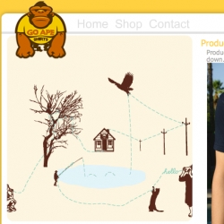 """Go APE Shirts submission - how cool is that ape? and this is a funny """"can you hear me  now?"""" shirt."""