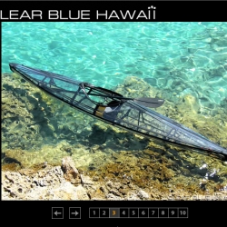 Clear Blue fiberglass Kayak - FOLDABLE!