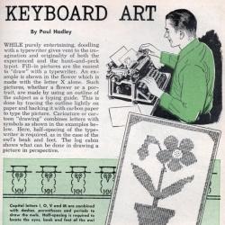 The ancestor of ASCII ART! - Keyboard Art? Circa 1948