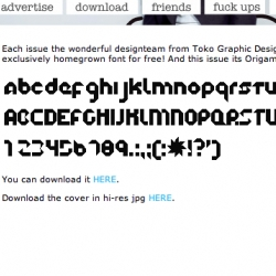 FREE FONT! Origami - aka nice hard 45 degree angles? cool concept though...