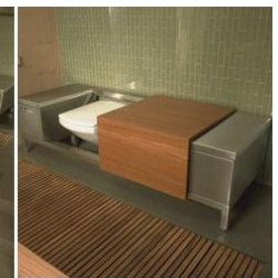 How sleek the bathroom could look with your toilet hidden... how confused your guests would be.