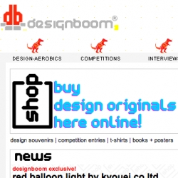 Designboom launches their shop! Congrats! (some fun designer goodies, shirts, rings, lamps, books, you name it!)