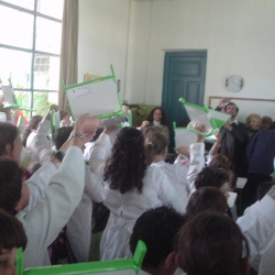 Great to see the One Laptop Per Child (OLPCs) in the hands of these kids in Uruguay!