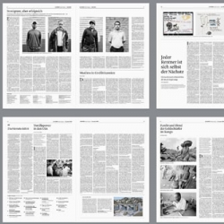 Le Monde Diplomatique redesign for the German edition has a flexible, clean layout that accommodates lengthy feature articles.  Great looking newspaper.