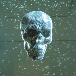 With all the talk about damien hirst diamond skull... check out Christoph Steinmeyer Disco Inferno back in 2004