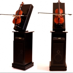 Self playing violins - check out the video - impressive.