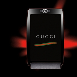 As i lust for the prada phone vs iphone... now add the gucci phone to the list of glammed out ubersleek touch screen contenders?