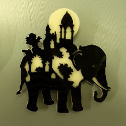 Take a look at this incredible set of pins... layered and laser cut looking scenes and stories in animals