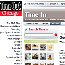 NOTCOT Sites featured in Time Out Chicago's Time In: Geek Out column!