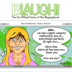"Just when some aspects of the ""blogosphere"" start to take itself too seriously ... jeff pirillo and brad fitzpatrick start bLAUGH to remind us to laugh at it all a bit more. Daily comics about the blogosphere."