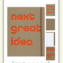 Journal - whose cover would also be great for stencil/spray painting...