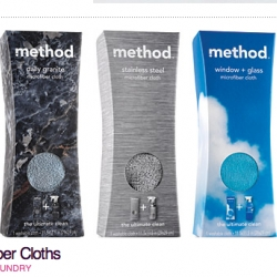 Method Microfiber cloths - interesting packaging