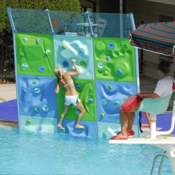 Aqua Climb - a rockwall for POOLS. Seems like one of the worst ideas ever, yet i cant stop wanting to try it.