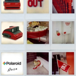 The polaroid rosse, sexy, red, instant and now comes with cocktail shaker.