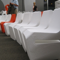 Styrofoam chairs!