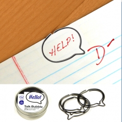 These cartoon-inspired paper clips are the perfect way to clip together stuff and add your thoughts too!