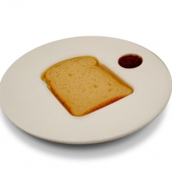 Isreali designer Luka Or makes this cool toast and spread plate in a limited number.