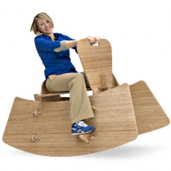 A Rocking Horse for grown-ups made of bamboo by Celery Furniture!! Of course they make one for kids too and call it a Rocking Pony. How fun is that?