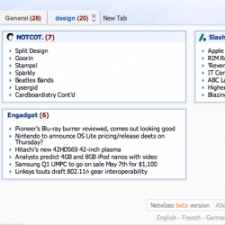 netvibes - its like google homepage thing - but prettier for rss reading?