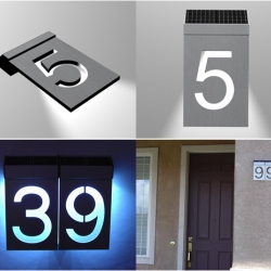 Solar LED House numbers...