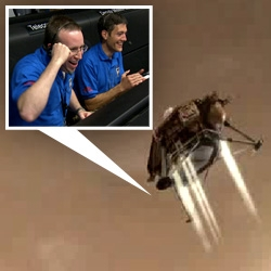 Phoenix Lander Arrives at Mars flawlessly at 7:30 est! check out the artist rendered video at NASA, and see some of the first pics its already sending back! Check out how excited the team is!
