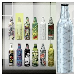 Mountain Dew today announced the launch of Green Label Art, a limited-edition series of aluminum bottles featuring designs created by a variety of artists. This series marks the first time a carbonated soft drink will be packaged in an aluminum bottle in the U.S.