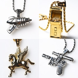Super cute new pendants by Hans Cholo ~ my fav is definitely the mini Ray Gun and Arcade Machine!
