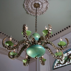 Adam Wallacavage makes the most incredible octopus chandeliers...