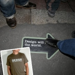 "Oh, Charles & Marie, how could you? Rip off Artefacture design slogans? ""Design will save the world"" and ""I will pay for good design"".... one, maybe a coincidence, but two?!?!"