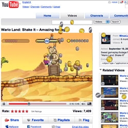 Awesome Wario Land ad.  Not your typical Youtube clip! Impressive how it really interacts with the whole page!