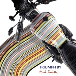 Paul Smith and Triumph team up for an extremely gorgeous and characteristically colorfully patterned line of motorcycles.