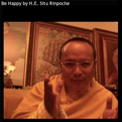 For your moment of zen ~ i accidentally misclicked and hit the stumbleupon toolbar video button... and suddenly this Rinpoche is telling me to be happy... had to share it.