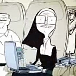 Virgin America ~ full of goodies from plugs at every seat and seat to seat chatting to live tv and crazy mood lighting... also an adorably cheeky animated safety video you have to watch!  (including this tech happy nun)