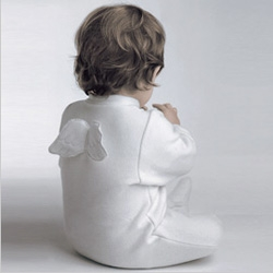 Velour PJs for those who need a little more help deluding themselves that their little one is an angel. by Marie Chantal