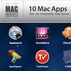 Its the MacHeist time of year again ~ Valued @ $343.75, the bundle of 10 programs is $49, with %25 to a charity. Highlights include 1Password, iStopMotion, AppZapper, Pixelmator, CSSEdit, and more.