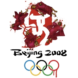 Poster protesting Olympics Beijing 2008 - By designers Michael Parisi & Rebecca Cadman.